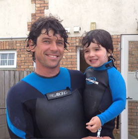 surfing in Northern Ireland - Ricky Martin, owner of Alive Surf School and Co-Owner of The Skunkworks Surfboard Co