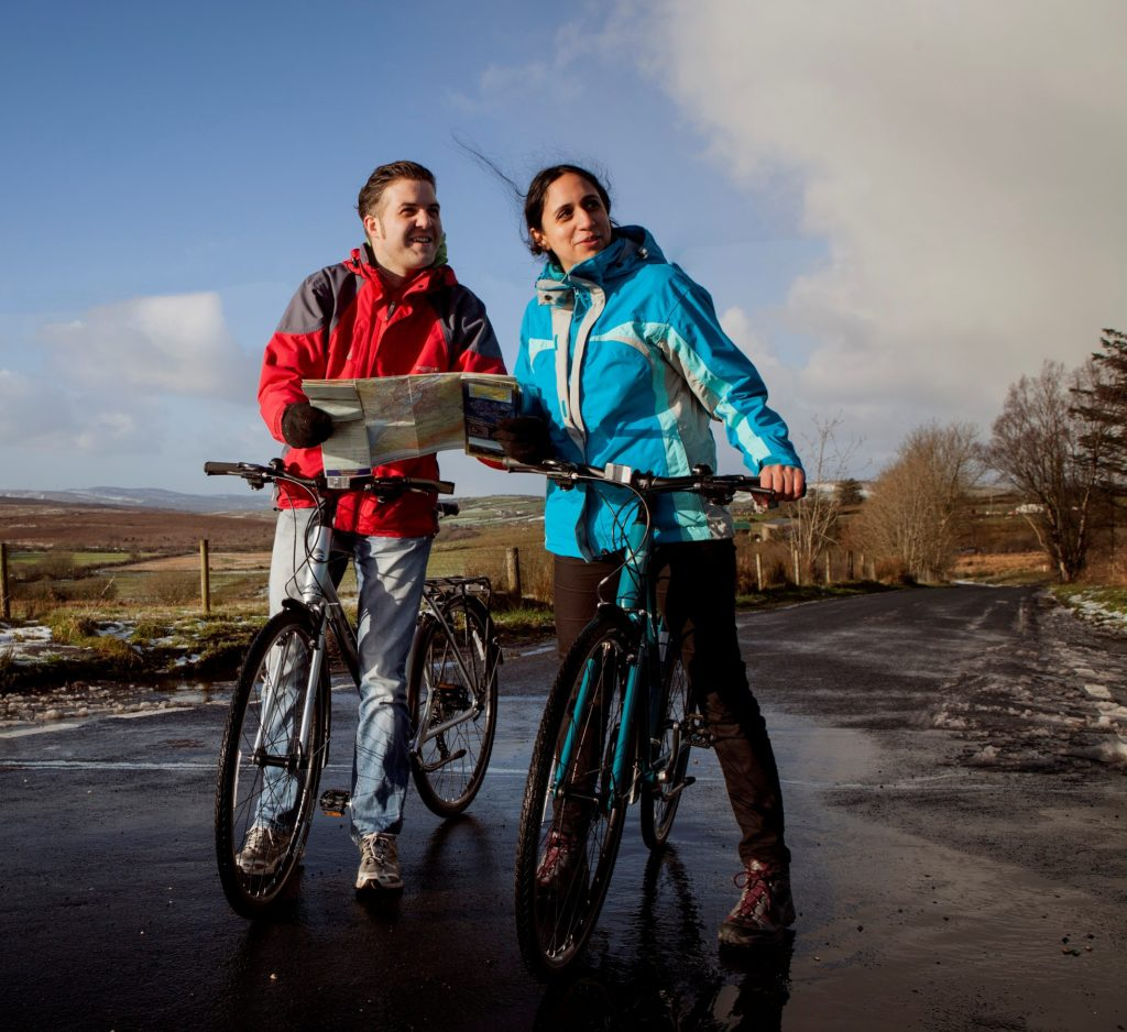 Touring cyclists using the routes around the Sperrin Mountain range - Cycle Sperrins