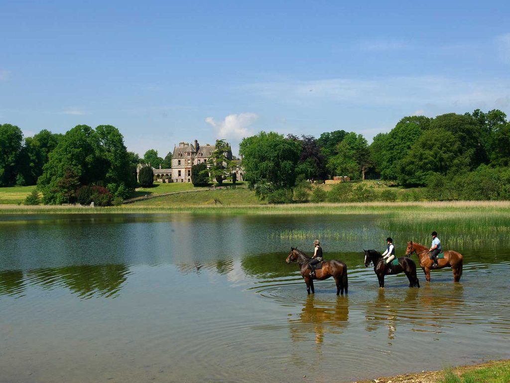 Castle Leslie on horseback for Live It Experience It