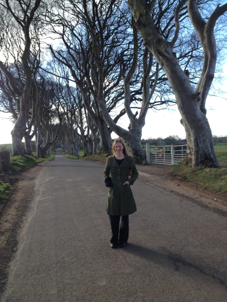 Live It Experience It journalist and blogger, Claire Savage, at the Dark Hedges - a popular Game of Thrones filming location. MGMPR-01
