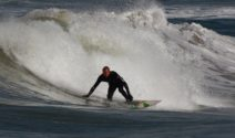Hanno Windisch of Alive Surf School offering surfing experiences during the Open Championship