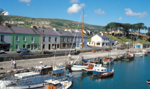 boats moored at Carnlough Harbour - Picture courtesy of Tourism NI
