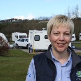 Olive Dunlop, the owner of Ballyness Caravan Park in Bushmills on the North Antrim Coast