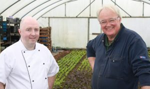 Live It Experience It member Chef Rob Curley of Slemish Market Supper Club with gardener Frank McCooke. IMG_0801