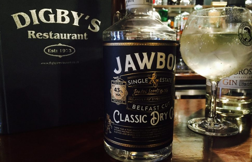 Digby's Bar and Restaurant - serving Northern Ireland's Jawbox Gin