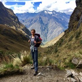 Leonie Livingstone from College Hall Farmhouse at the Inca Trail, Peru.