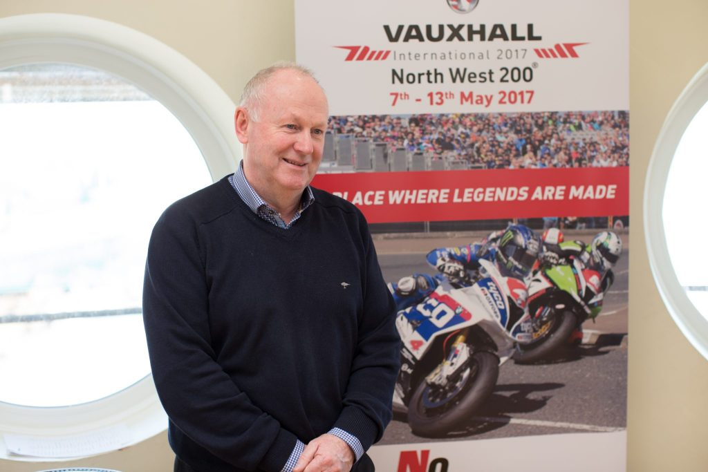 Mervyn Whyte from the North West 200 is staying on at the helm for the NW200 2018. Here's Mervyn at the launch of Live It Experience It in February 2017 when he announced Live It Experience It as a tourism partner with the NW200. LIEI-5084