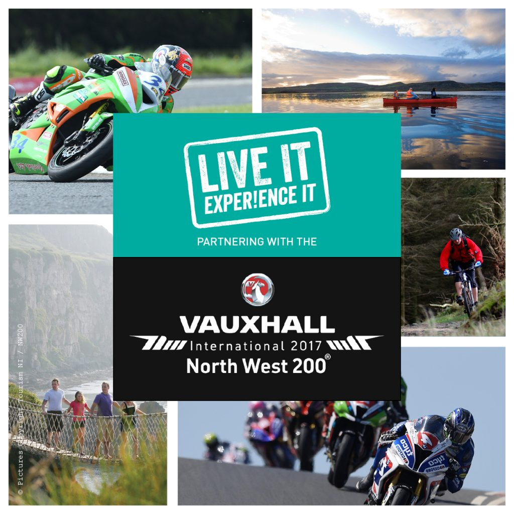 Live It Experience It is tourism partner with the Vauxhall International North West 200 for 2017