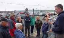 Kevin McGowan of Nine Glens Walking Tours at the Rathlin Sound Maritime Festival 2017 P1040470 (1)
