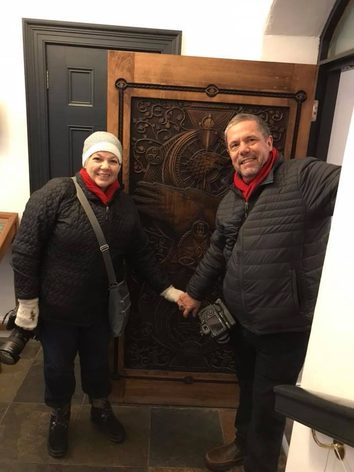 Seeing Southern at one of the famous Game of Thrones doors. Walking tours in Northern Ireland