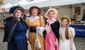 These ladies looked stunning at the Caledon Village Georgian Festival