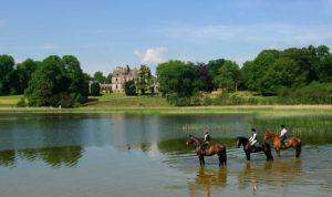 Castle Leslie on horseback for Live It Experience It