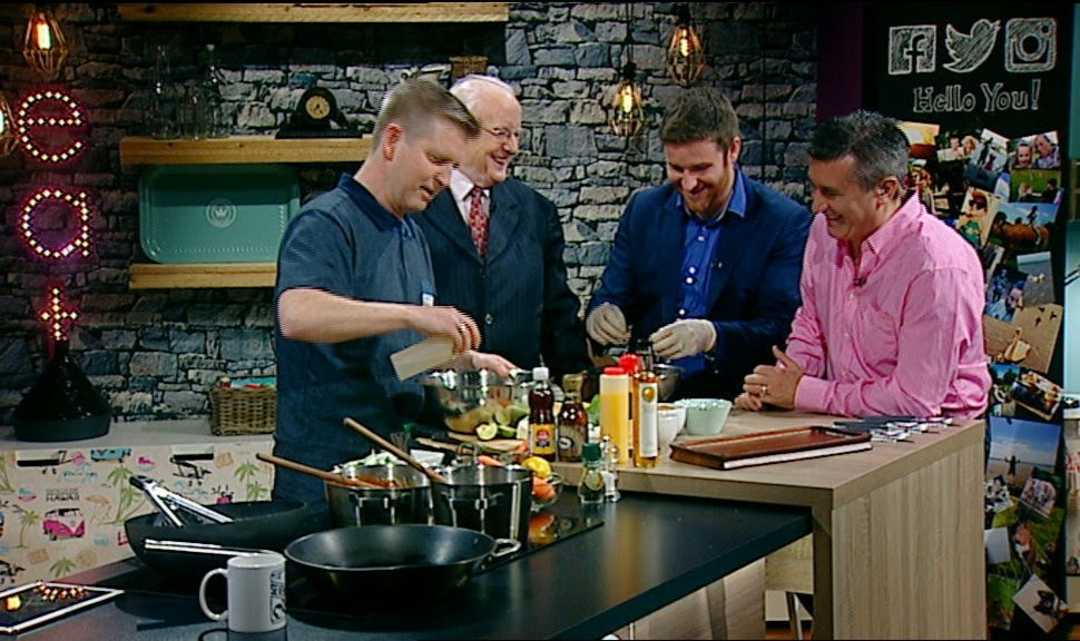 Dean-Coppard cooking on TV3