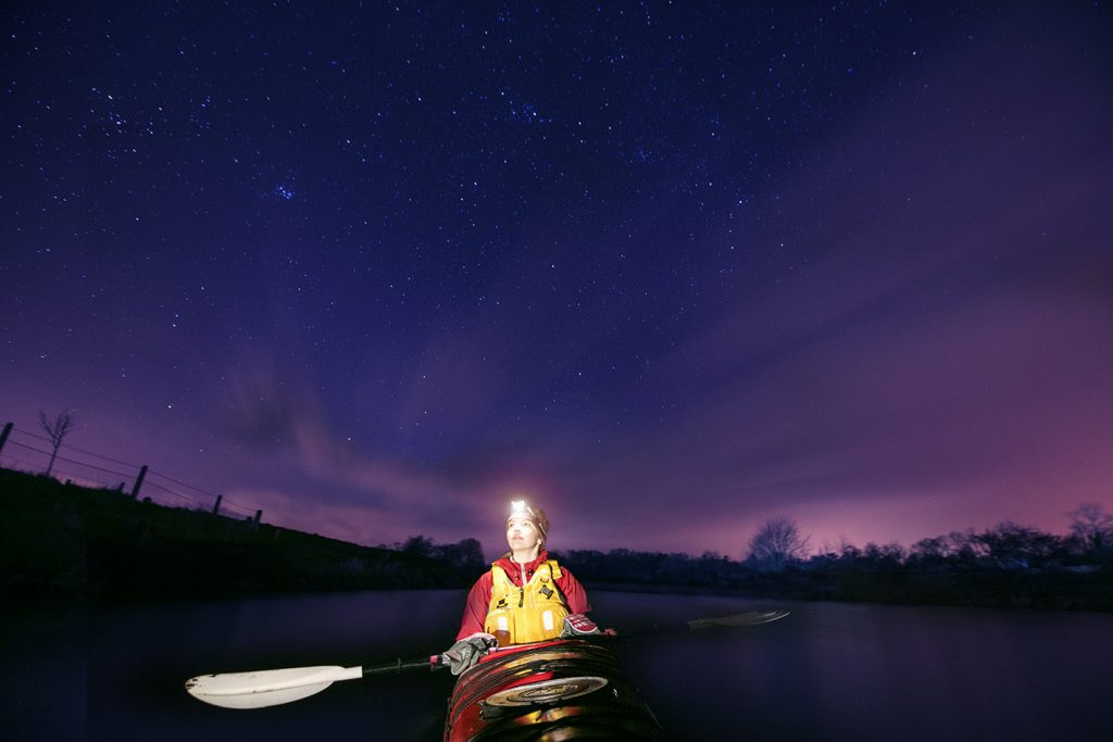 moonlight kayaking tours with far & Wild - a Live It Experience It member