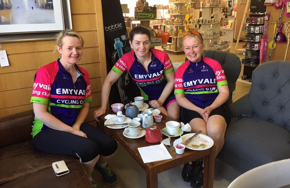 Cyclists enjoying a break in Allens of Caledon