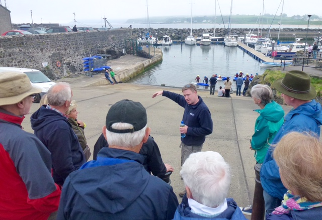 Kevin McGowan of Nine Glens Walking Tours at Rathlin Sound Maritime Festival 2017 P1040478