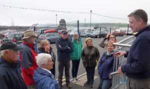 Kevin McGowan of Nine Glens Walking Tours at the Rathlin Sound Maritime Festival 2017 P1040470 (1)
