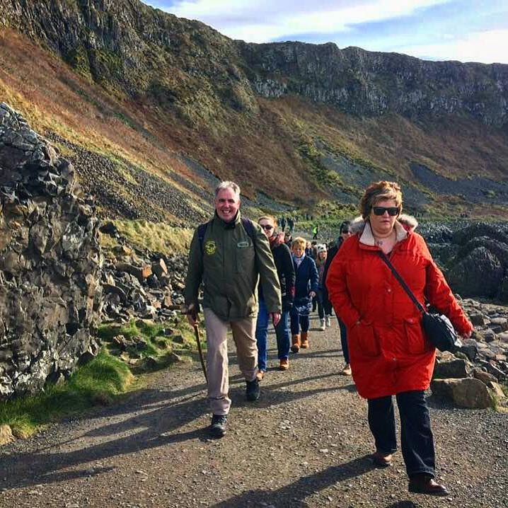 Mark Rodgers of Dalriada Kingdom Tours leading a walk at the Giant's Causeway