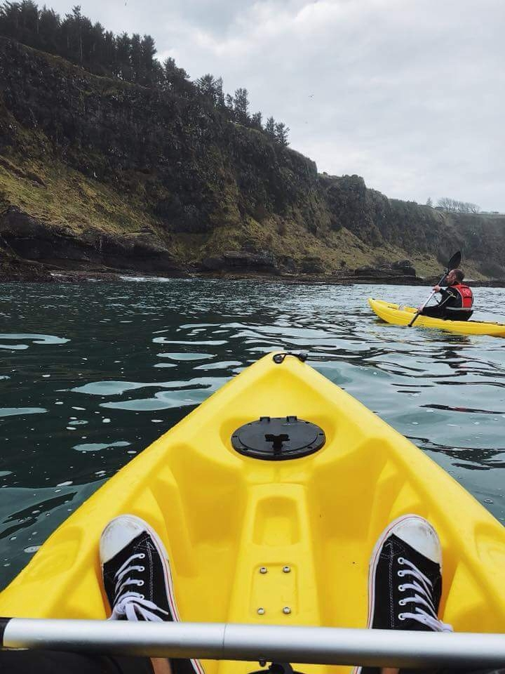 Touring our shoreline with Causeway Coast Kayaking Tours
