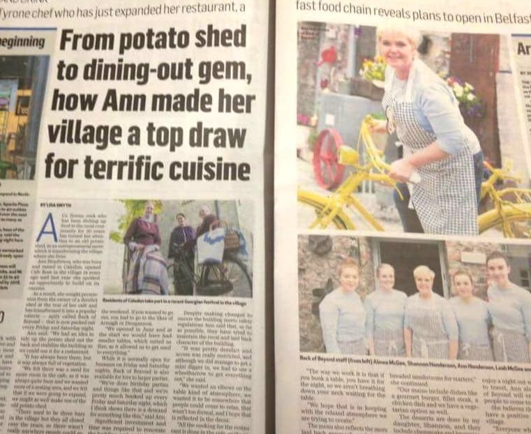 Back of Beyond features in the Belfast Telegraph