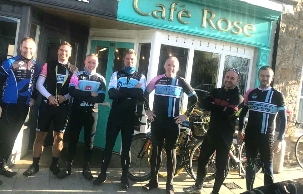 Cyclists at Back of Beyond at Cafe Rose