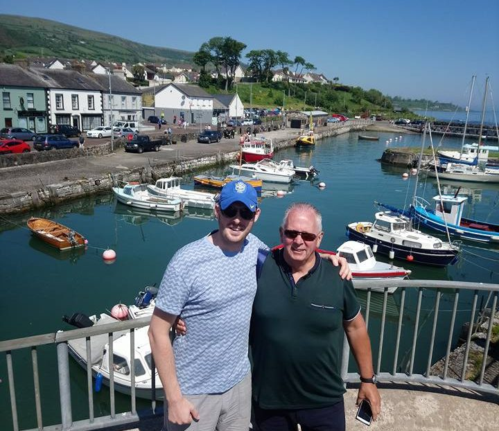 Tourists enjoying our Glens of Antrim with CraicNTour