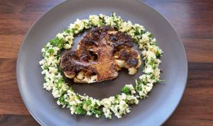 Chef Robert Curley of the Slemish Market Supper Club - Visit Ballymena - Cauliflower steak with cauliflower cous cous recipe