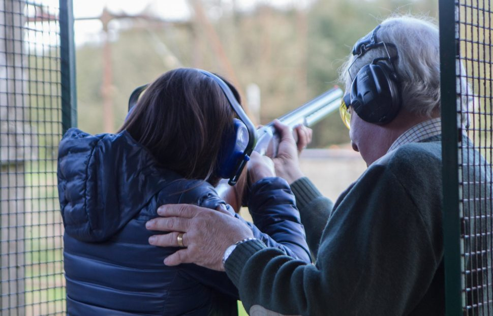 The team of instructors at Foymore Lodge teaching the basic skills of clay pigeon shooting. Picture by RHG Photography for Live It Experience It IMG_2293