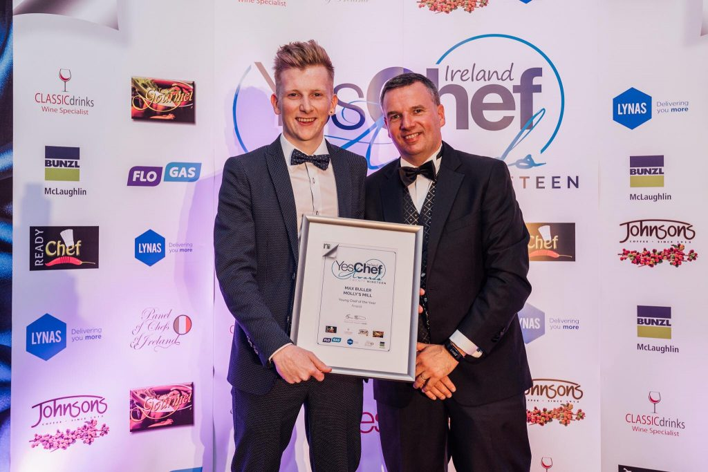 Chef Max Buller with his award