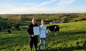 Chef Max Buller with his dad Robert on their farm in Loughbrickland
