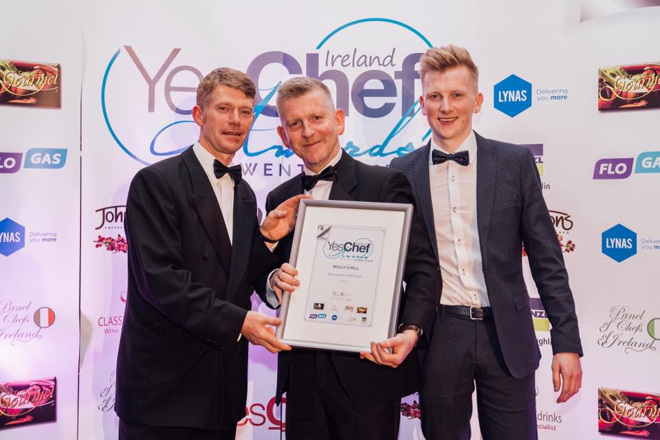 Dean Coppard with chef Max Buller - Best Young Chef in Ireland 2019