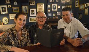 Claire Macklin, bar and restaurant manager at Digby's Bar and Restaurant, Michael Macklin, owner, and Head Chef Kevin Crossan