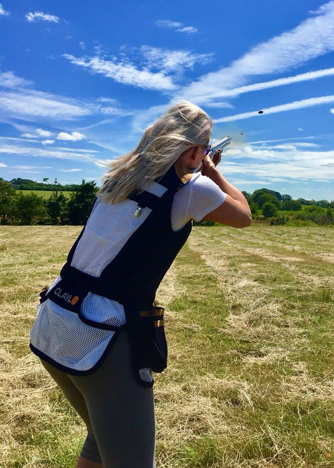 Louise Smylie who shoots for the NI Skeet Team in action clay pigeon shooting