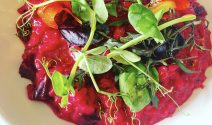A Dish From Dean - Beetroot and Pine Nut Risotto Picture