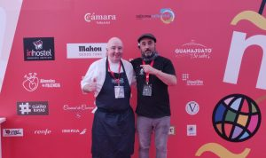 Chef Robert Curley with Chef Gorka Arietta in Valladolid at the World Tapas Championships