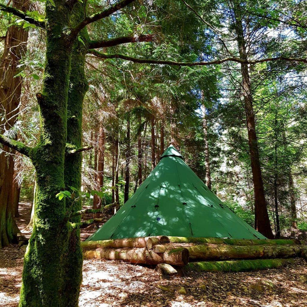 Ireland Travel Blog - Tipi Adventures Ireland Tipi in the woods